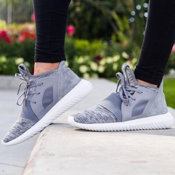 adidas Shoes - 7 ADIDAS TUBULAR DEFIANT GREY MARL SNEAKERS bb7391861939